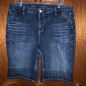 Lane Bryant Bermuda Denim Jean Shorts Size 18